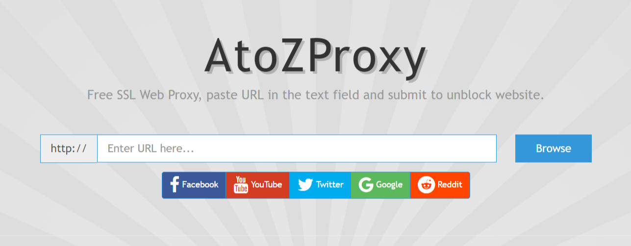 Unblock YouTube Proxy - atozProxy free SSL Web Proxy